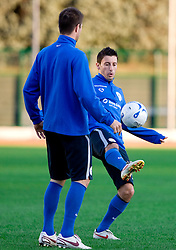 Robert Koren of Slovenian National football team at practice a day before the last 2010 FIFA Qualifications match between San Marino and Slovenia, on October 13, 2009, in Olimpico Stadium, Serravalle, San Marino.  (Photo by Vid Ponikvar / Sportida)