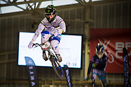 #11 (FIELDS Connor) USA at the 2014 UCI BMX Supercross World Cup in Manchester.