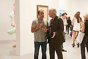 ALBERTO MUGRABI; LARRY GAGOSIAN, Opening of Art Basel Miami Beach. Convention Centre.  Miami Beach. 30 November 2010. -DO NOT ARCHIVE-© Copyright Photograph by Dafydd Jones. 248 Clapham Rd. London SW9 0PZ. Tel 0207 820 0771. www.dafjones.com.
