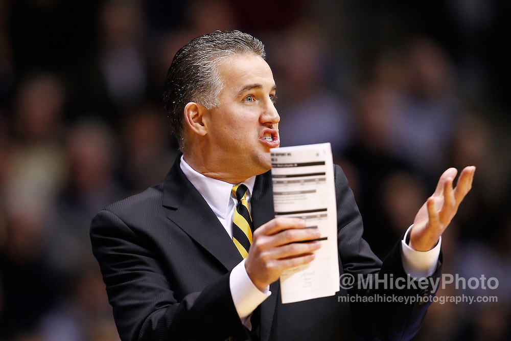 WEST LAFAYETTE, IN - JANUARY 02: Head coach Matt Painter of the Purdue Boilermakers seen during the game against the Illinois Fighting Illini at Mackey Arena on January 2, 2013 in West Lafayette, Indiana. Purdue defeated Illinois 68-61. (Photo by Michael Hickey/Getty Images) *** Local Caption *** Matt Painter