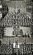 Trial of Charles I at Westminster Hall, London.