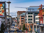 Thomas St. in the South Lake Union neighborhood, 03/23/19, Seattle, Washington