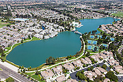 Aerial Photo South Lake of Woodbridge in Irvine California