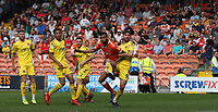 Fleetwood Town's Ched Evans defends against Blackpool's Curtis Tilt<br /> <br /> Photographer Stephen White/CameraSport<br /> <br /> The EFL Sky Bet League One - Blackpool v Fleetwood Town - Monday 22nd April 2019 - Bloomfield Road - Blackpool<br /> <br /> World Copyright © 2019 CameraSport. All rights reserved. 43 Linden Ave. Countesthorpe. Leicester. England. LE8 5PG - Tel: +44 (0) 116 277 4147 - admin@camerasport.com - www.camerasport.com<br /> <br /> Photographer Stephen White/CameraSport<br /> <br /> The EFL Sky Bet Championship - Preston North End v Ipswich Town - Friday 19th April 2019 - Deepdale Stadium - Preston<br /> <br /> World Copyright © 2019 CameraSport. All rights reserved. 43 Linden Ave. Countesthorpe. Leicester. England. LE8 5PG - Tel: +44 (0) 116 277 4147 - admin@camerasport.com - www.camerasport.com