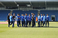 Israel players arrive at the ground during the UEFA European Under 17 Championship 2018 match between England and Israel at Proact Stadium, Whittington Moor, United Kingdom on 4 May 2018. Picture by Mick Haynes.