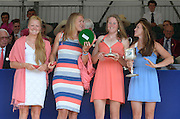 Henley on Thames. United Kingdom. GBR W4X.  Polly SWANN, Vicky MAYER-LAKER, Frances HOUGHTON and Helen GLOVER. with the Princess Grace Challenge Cup.  2013 Henley Royal Regatta, Henley Reach. 17:03:53  Sunday  07/07/2013  [Mandatory Credit; Peter Spurrier/ Intersport Images]
