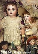 French children's dolls, 1870-1900, Merritt's Doll Museum, Douglassville, Berks Co., PA