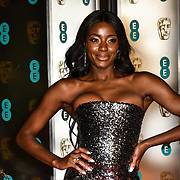 AJ Odudu Arrivers at EE British Academy Film Awards in 2019 after-party dinner at Grosvenor house on 10 Feb 2019.