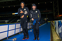 Blackburn Rovers' Dominic Samuel and Bradley Dack arrive at the stadium <br /> <br /> Photographer Andrew Kearns/CameraSport<br /> <br /> The EFL Sky Bet League One - Blackburn Rovers v Walsall - Tuesday 30th January 2018 - Ewood Park - Blackburn<br /> <br /> World Copyright © 2018 CameraSport. All rights reserved. 43 Linden Ave. Countesthorpe. Leicester. England. LE8 5PG - Tel: +44 (0) 116 277 4147 - admin@camerasport.com - www.camerasport.com