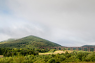 Cornwall, New York - A view of Schunnuemuk Mountain on a partly cloudy morning on Aug. 22, 2018.