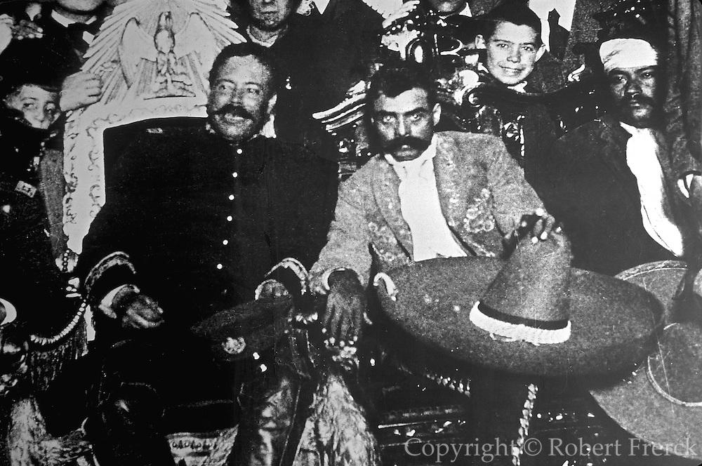 MEXICO, MURALS Civil War, 1910 Pancho Villa and Zapata enter Mexico City