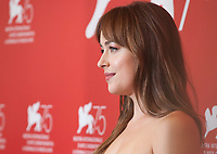 Dakota Johnson at the photocall for the film Suspiria at the 75th Venice Film Festival, on Saturday 1st September 2018, Venice Lido, Italy.