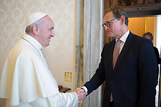 Pope Francis meets with Michael Muller, Mayor of Berlin - 26 May 2018