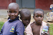 Uganda, Three Smiling Children