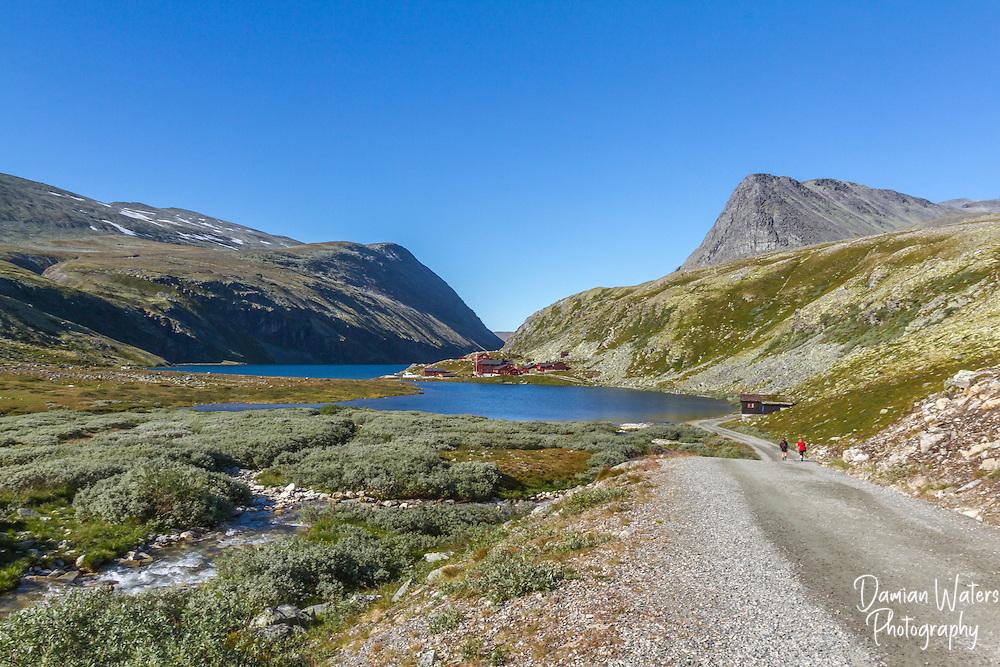 Rondvasssbu tourist hut, turisthytte, Rondane National Park, Norway - August