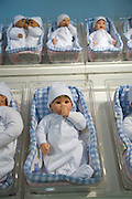rows with baby dolls