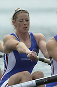 2002 FISA World Cup. Hazewinkel. BEL.       Friday  14/06/2002     .email images@Intersport-images.com.[Mandatory Credit: Peter Spurrier/Intersport Images]  .                                 /06/2002.Rowing. ..GBR W4- .Kate MACKENZIE Rowing, FISA WC.Hazenwinkel, BEL