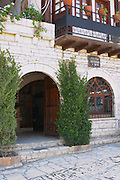 The entrance to the restaurant. Berat lower town. Albania, Balkan, Europe.