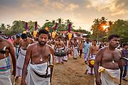 Hindu spring festival in Temple on 28th February 2018 near Kovalam, Kerala, India.