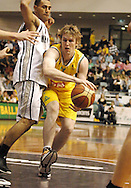 AJ Oglivy (Australia) in action during the Ramsay Shield, Australia Post Boomers v New Zealand, Game 2, 2008.  Played at the State Netball & Hockey Centre. Australian Post Boomers defeated New Zealand. .Photo: Joel Strickland / SMP Images.Use information: This image is intended for Editorial use only (e.g. news or commentary, print or electronic). Any commercial or promotional use requires additional clearance.