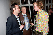 FRED SYKES; CHRISTOPHER SIMON SYKES; JOE SYKES, Party hosted for ~Jason Wu by Plum Sykes and Christine Al-Bader. Ladbroke Grove. London. 22 March 2011. -DO NOT ARCHIVE-© Copyright Photograph by Dafydd Jones. 248 Clapham Rd. London SW9 0PZ. Tel 0207 820 0771. www.dafjones.com.