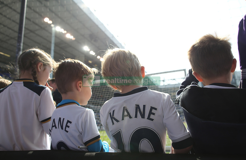 08 April 2017 London : Premier League Football : Tottenham Hotspur v Watford :<br /> young Harry Kane fans, glad that their heor is back as substitute for Tottenham at White Hart Lane.<br /> Photo: Mark Leech