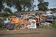 Contents removed from a flooded home in Denahm Springs Louisiana following a 100 0year flood that impacted numerous parishes in Southern Louisiana.