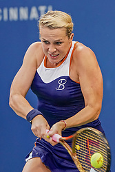 August 15, 2018 - Mason, Ohio, USA - Anastasia Pavlyuchenkova (RUS) in action during Wednesday's second round of the Western and Southern Open at the Lindner Family Tennis Center, Mason, Oh. (Credit Image: © Scott Stuart via ZUMA Wire)