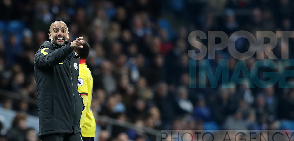 Manchester City Manager Pep Guardiola during the English Premier League match at The Etihad Stadium, Manchester. Picture date: December 12th, 2016. Photo credit should read: Lynne Cameron/Sportimage