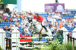 Fuchs Martin, (SUI), Clooney<br /> Team Competition round 1 and Individual Competition round 1<br /> FEI European Championships - Aachen 2015<br /> © Hippo Foto - Stefan Lafrentz<br /> 19/08/15