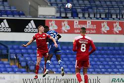 Colby Bishop of Accrington Stanley wins a header - Mandatory by-line: Arron Gent/JMP - 16/10/2020 - FOOTBALL - Portman Road - Ipswich, England - Ipswich Town v Accrington Stanley - Sky Bet League One