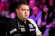 Michael Smith during the PDC Betway Premier League at Westpoint Arena, Exeter, United Kingdom on 3 March 2016. Photo by Shane Healey.