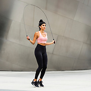 Analyse Talavera poses for a fitness shoot on Wednesday, August 5, 2020 in Los Angeles.