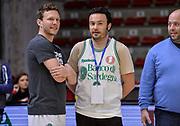 DESCRIZIONE : Dinamo Banco di Sardegna Sassari All Stars Legends Night<br /> GIOCATORE : Travis Diener, Andrea Sini<br /> CATEGORIA : Fair Play Before Pregame<br /> SQUADRA : Dinamo Banco di Sardegna Sassari<br /> EVENTO : Dinamo Banco di Sardegna Sassari All Stars Legends Night<br /> GARA : Dinamo Banco di Sardegna Sassari - Alba Berlino Veterans<br /> DATA : 14/05/2016<br /> SPORT : Pallacanestro <br /> AUTORE : Agenzia Ciamillo-Castoria/L.Canu