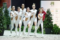 Team GER, Delia 99, Jessica Schmitz - Squad Final Vaulting - Alltech FEI World Equestrian Games™ 2014 - Normandy, France.<br /> © Hippo Foto Team - Jon Stroud<br /> 05/09/2014