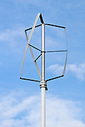 Turby Vertical axel Wind Turbine specifically designed to use in developed areas where wind direction changes quickly and regulary, like a city environment. Under those circumstances the vertical wind turbine has a higher aerodynamic efficiency.