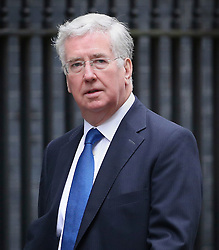 © Licensed to London News Pictures. 01/12/2015. London, UK Defence Secretary MICHAEL FALLON arrives for a Cabinet meeting ahead of a vote in Parliament on bombing IS targets in Syria. Photo credit: Peter Macdiarmid/LNP