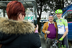 Matej Mohoric of Slovenia with fans prior to the UCI Class 1.2 professional race 2nd Grand Prix Izola, on March 1, 2015 in Izola / Isola, Slovenia. Photo by Vid Ponikvar / Sportida