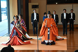 October 22, 2019, Tokyo, Japan: 22-10-2019 TOKYO Princess Mako and Princess Kiko and Prince Akishino attend the enthronement ceremony where emperor officially proclaims his ascension to the Chrysanthemum Throne at the Imperial Palace in Tokyo..../pool (Credit Image: © face to face via ZUMA Press)