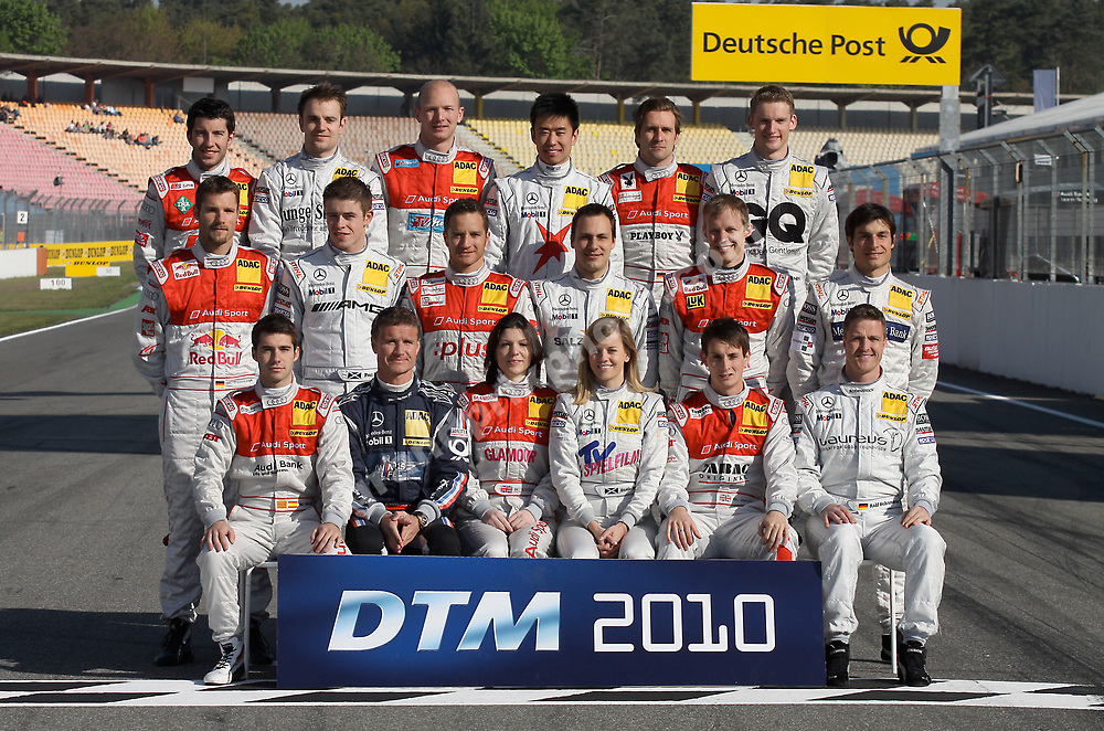 Group photo of the drivers before round 1 of the 2010 DTM in Hockenheim, Photo: Grand Prix Photo/ Michael Stirnberg