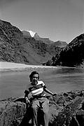 Octavia Hirschman along shore of the Colorado River, Grand Canyon National Park, Arizona.
