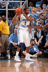 CHAPEL HILL, NC - MARCH 05: Dexter Strickland #1 of the North Carolina Tar Heels dribbles the ball while playing the Duke Blue Devils on March 05, 2011 at the Dean E. Smith Center in Chapel Hill, North Carolina. North Carolina won 67-81. (Photo by Peyton Williams/UNC/Getty Images) *** Local Caption *** Dexter Strickland