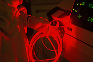 Bethesda, MD 1998/03/01 Photodynamic Laser light therapy in te fight agains cancer  <br /> <br /> Photograph by Dennis Brack