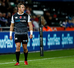 2nd November, Liberty Stadium , Swansea, Wales ; Guinness pro 14's Ospreys Rugby v Glasgow Warriors ;  Hanno Dirksen of Ospreys<br /> <br /> Credit: Simon King/News Images<br /> <br /> Photographer Simon King/Replay Images<br /> <br /> Guinness PRO14 Round 8 - Ospreys v Glasgow Warriors - Friday 2nd November 2018 - Liberty Stadium - Swansea<br /> <br /> World Copyright © Replay Images . All rights reserved. info@replayimages.co.uk - http://replayimages.co.uk