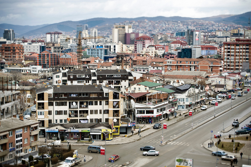 """Pristina, Kosovo 17 February 2011<br /> View of Pristina, capital city of Kosovo.<br /> After the Kosovo War and the 1999 NATO bombing of Yugoslavia, the territory of Kosovo came under the interim administration of the United Nations Mission in Kosovo (UNMIK), and most of those roles were assumed by the European Union Rule of Law Mission in Kosovo (EULEX) in December 2008. <br /> In February 2008 individual members of the Assembly of Kosovo declared Kosovo's independence as the Republic of Kosovo. Its independence is recognised by 75 UN member states. <br /> On 8 October 2008, upon request of Serbia, the UN General Assembly adopted a resolution asking the International Court of Justice for an advisory opinion on the issue of Kosovo's declaration of independence.<br /> On 22 July 2010, the ICJ ruled that Kosovo's declaration of independence did not violate international law, which its president said contains no """"prohibitions on declarations of independence"""".<br /> Photo: Ezequiel Scagnetti"""