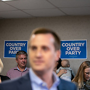 CHARLOTTE, NC - JULY 23:  Democratic candidate for the United States House of Representatives in the 9th district, Dan McCready, addresses the media and supporters at Piedmont Medical Group in Charlotte, NC on Tuesday July 23, 2019. McCready used the event to officially launch his healthcare plan.  (Photo by Logan Cyrus / The New York Times)
