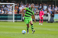 Forest Green Rovers Aarran Racine (21) passes the ball during the Vanarama National League match between Dover Athletic and Forest Green Rovers at Crabble Athletic Ground, Dover, United Kingdom on 10 September 2016. Photo by Shane Healey.