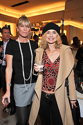 Left to right, DEBORAH LENG and MARYAM D'ABO at a party to celebrate the arrival of the 'A Princess to be a Queen' collection at the Roger Vivier boutique on Sloane Street, London on 20th October 2009.