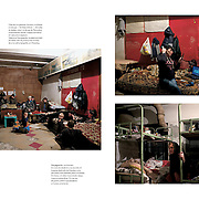 """Tearsheet of """"Life in Donetsk"""" published in Courrier Internacional"""