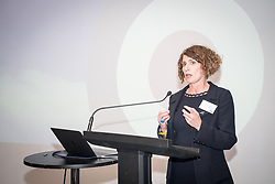 Maggie Appleton MBE, CEO of the RAF Museum, speaking at Hidden Heroes, an event celebrating the part played by Jewish volunteers in the Royal Air Force during World War Two, at the RAF Museum in London. The event is part of celebrations to mark the centenary of the RAF. Photo date: Thursday, November 15, 2018. Photo credit should read: Richard Gray/EMPICS